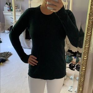 Aqua Cashmere Green Crew Neck Sweater